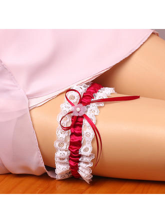 Garters Women Wedding/Special Occasion Satin/Lace With Bowknot/Pearl Garter