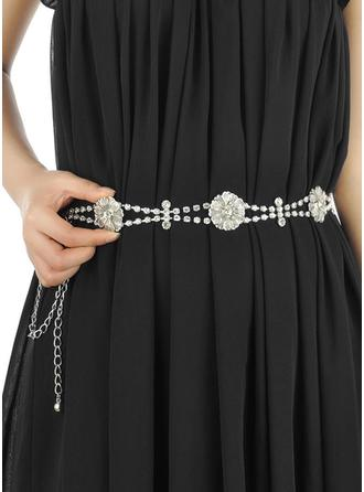Women Alloy With Rhinestones Belt Stylish Sashes & Belts