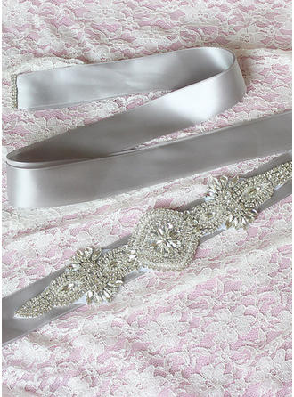 Women Ribbon With Rhinestones/Imitation Pearls Sash Elegant Sashes & Belts