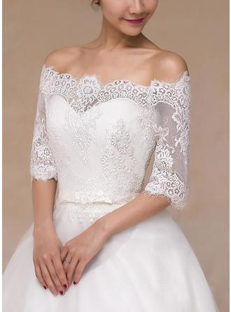 Wrap Wedding Lace Half-Sleeve Other Colors Wraps