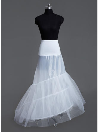 Petticoats Court Train Tulle Netting/Lycra Mermaid and Trumpet Gown Slip 3 Tiers Petticoats