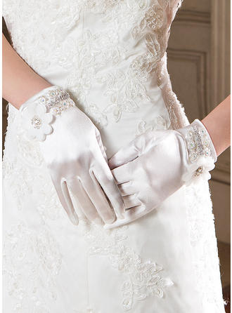 Elastic Satin Ladies' Gloves Wrist Length Party/Fashion Gloves Fingertips Gloves